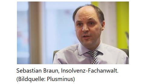 Sebastian Braun, Insolvenz-Fachanwalt - Bildquelle Plusminus